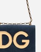 DG GIRLS SHOULDER BAG IN VELVET