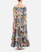 MAJOLICA PRINT SILK DRESS
