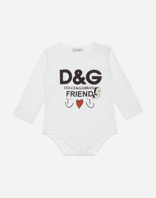 Dolce&Gabbana PRINTED COTTON BODYSUIT