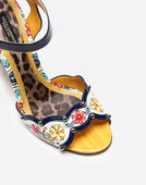 PRINTED PATENT LEATHER SANDAL