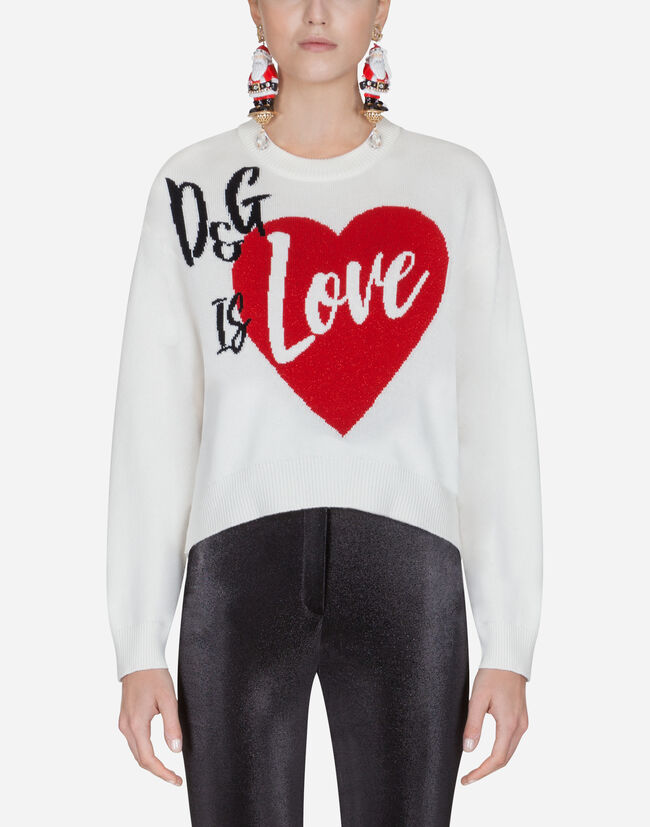 Dolce & Gabbana CASHMERE SWEATER WITH INTARSIA