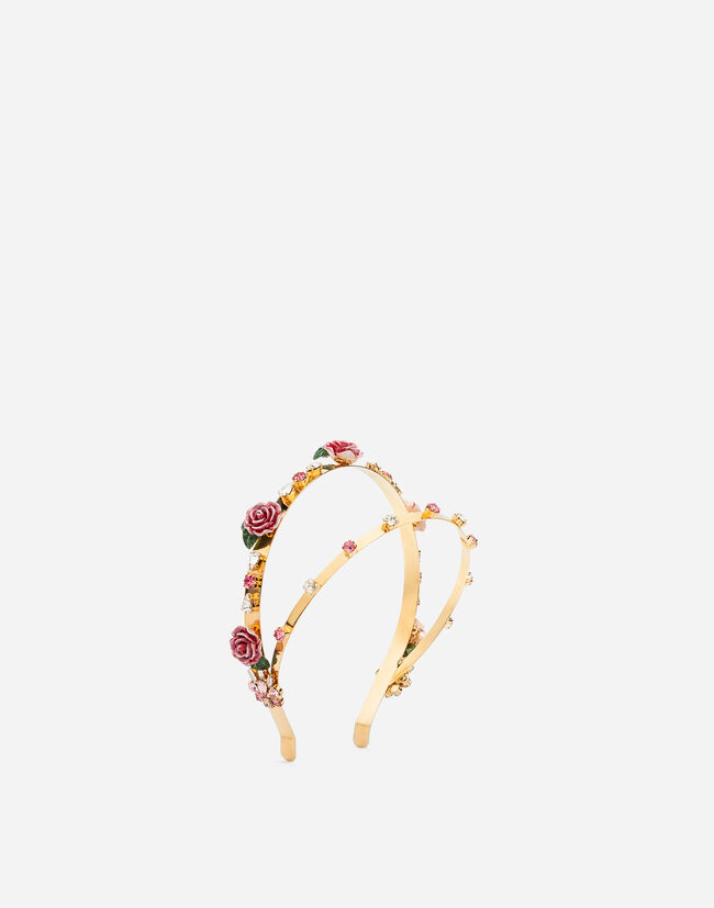 Dolce&Gabbana DUAL ROW HEADBAND WITH DECORATIVE ELEMENTS