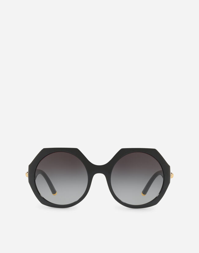 Dolce & Gabbana NYLON FIBER SUNGLASSES WITH METAL PLAQUE