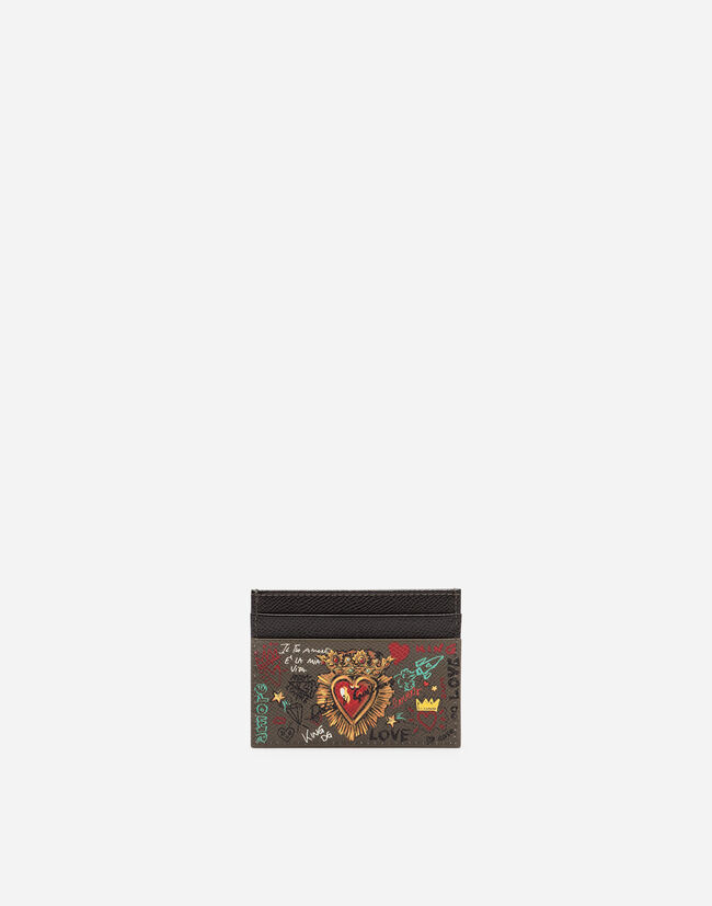 Dolce&Gabbana CREDIT CARD HOLDER IN PRINTED DAUPHINE CALFSKIN