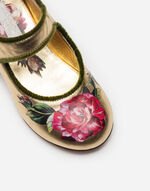 LAMINATED LEATHER BALLET FLATS