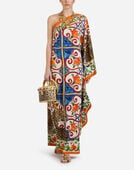 KAFTAN IN PRINTED SILK