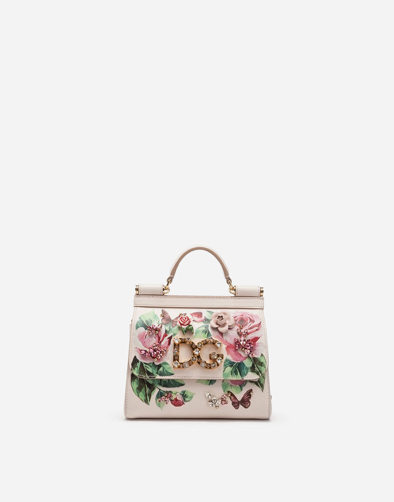 MINI SICILY BAG IN PRINTED DAUPHINE CALFSKIN
