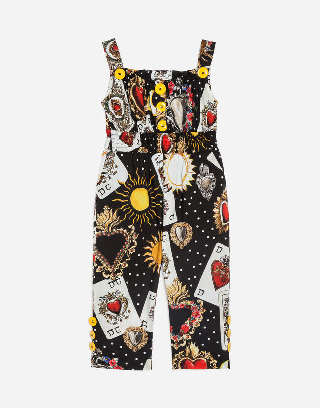 PRINTED COTTON OVERALL