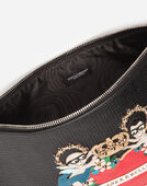 Dolce & Gabbana DOCUMENT HOLDER IN CALFSKIN WITH DESIGNERS' PATCH EMBROIDERY