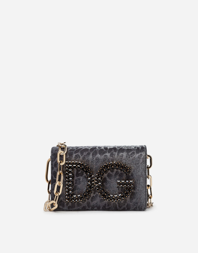 Dolce Gabbana Dg S Shoulder Bag In Color Changing Leopard Fabric