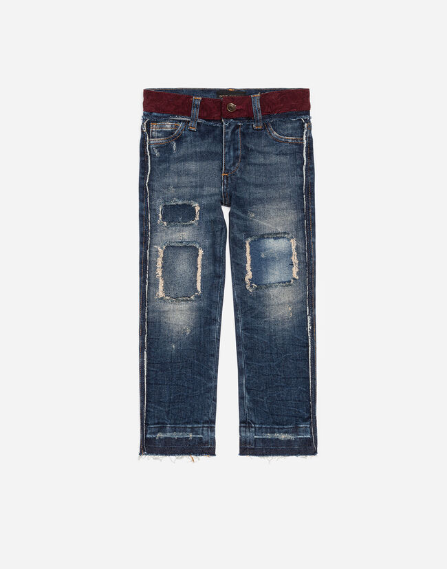 STRETCH JEANS WITH PATCHES