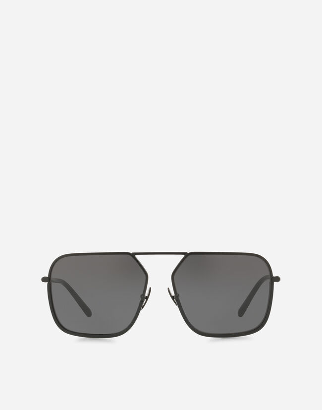 RECTANGULAR SUNGLASSES WITH METAL BRIDGE