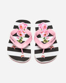 PRINTED RUBBER THONG SANDALS