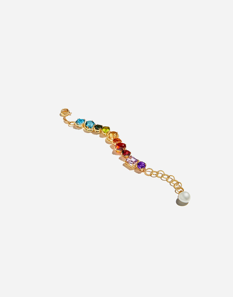 Dolce & Gabbana BRACELET WITH MULTI-COLORED GEMS