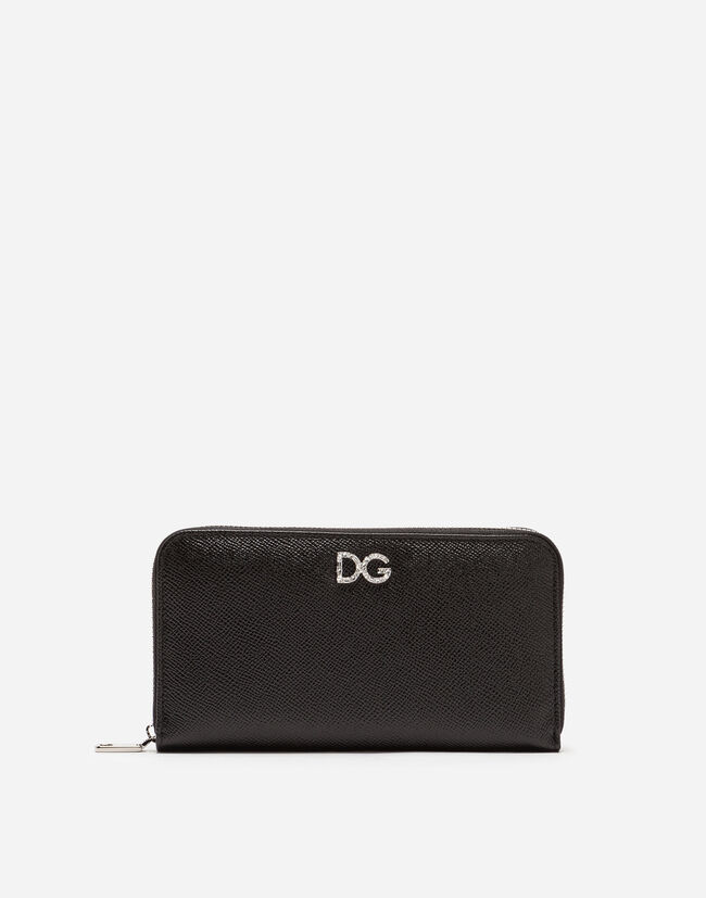ZIP-AROUND DAUPHINE CALFSKIN WALLET
