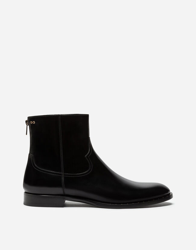 Dolce&Gabbana BRUSHED CALFSKIN ANKLE BOOTS
