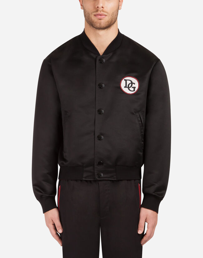 Dolce&Gabbana BOMBER JACKET IN NYLON WITH PATCH