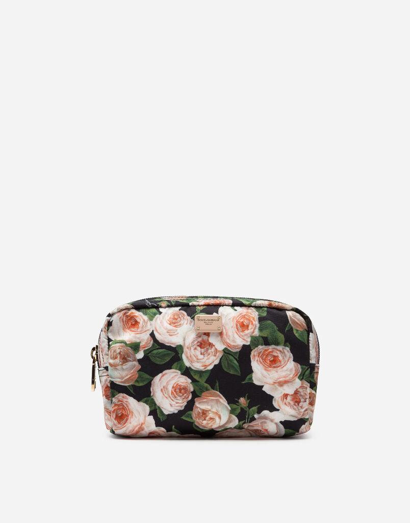 Dolce   Gabbana NECESSAIRE IN NYLON STAMPATO d7766fe3ef8