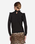 CASHMERE SWEATER WITH LACE DETAILS