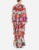 Dolce&Gabbana SILK COAT IN PEONY PRINT