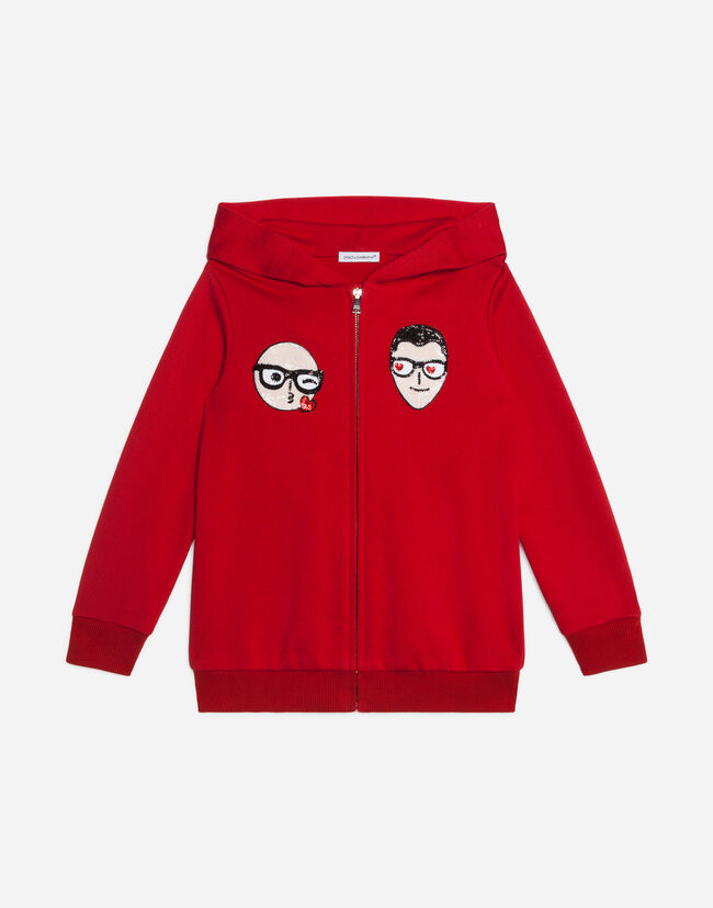 Dolce&Gabbana COTTON SWEATSHIRT WITH PATCHES