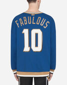 Dolce & Gabbana COTTON SWEATSHIRT WITH PRINT AND PATCH