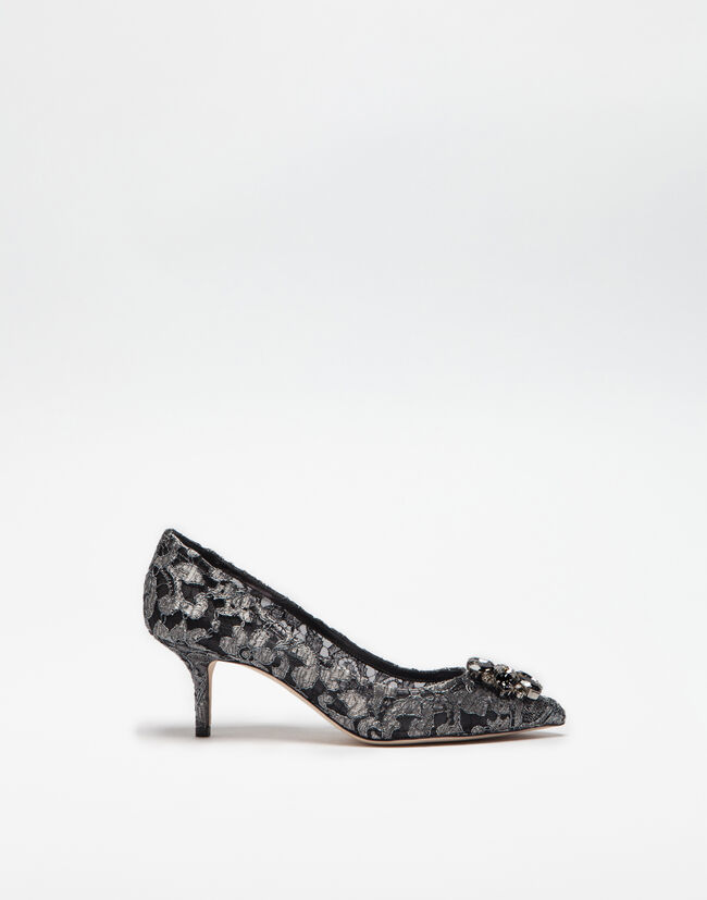 Dolce&Gabbana PUMP IN TAORMINA LUREX LACE WITH CRYSTALS