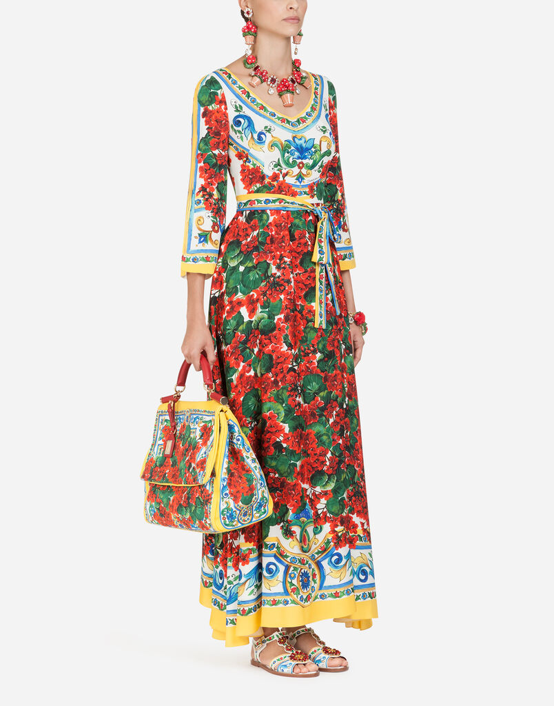 Dolce&Gabbana DRESS IN PRINTED SILK