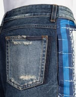 JEANS WITH SILK PANEL
