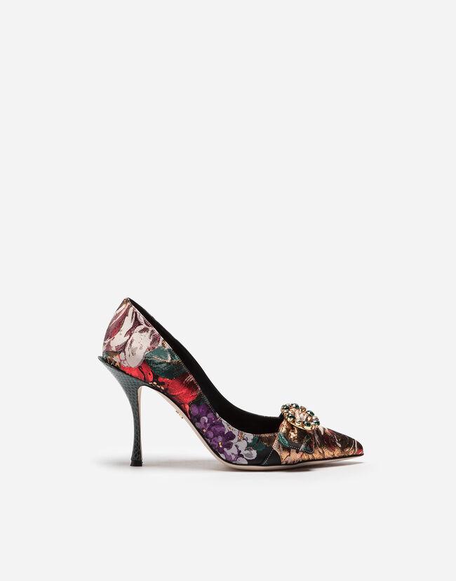 Dolce & Gabbana FLORAL JACQUARD PUMPS