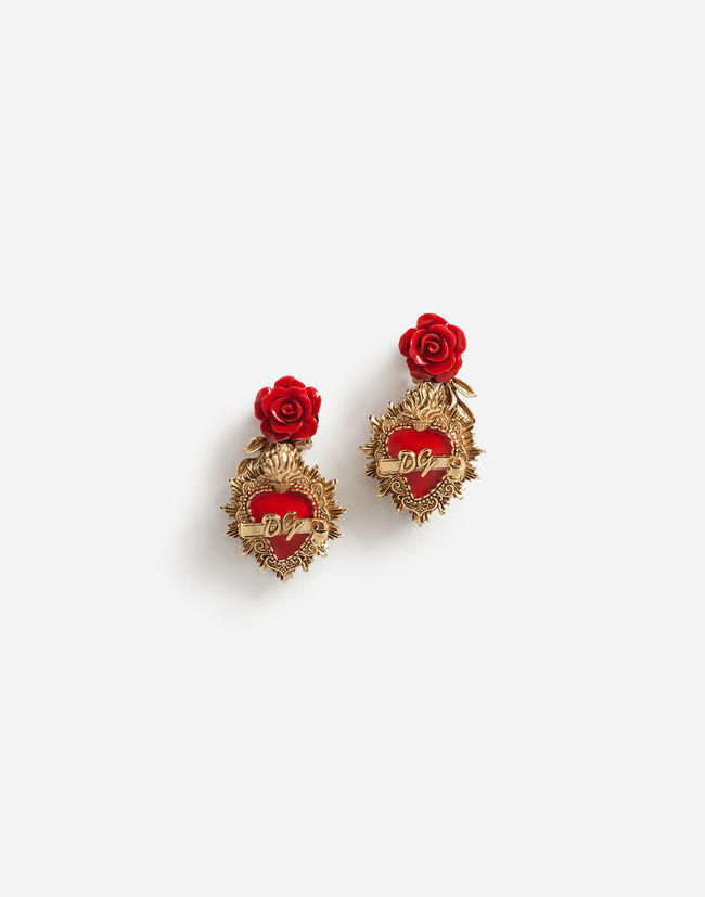 Dolce & Gabbana PENDANT EARRINGS WITH DECORATIVE ELEMENTS