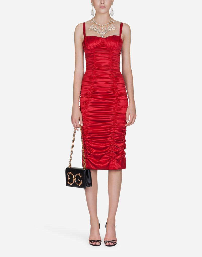 Dolce Gabbana Sheath Dress In Silk Satin