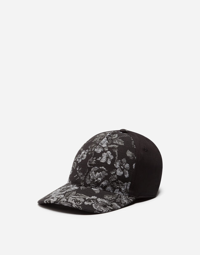BASEBALL CAP IN BROCADE AND VELVET