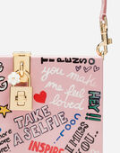 DOLCE BOX CLUTCH WITH MURAL PRINT