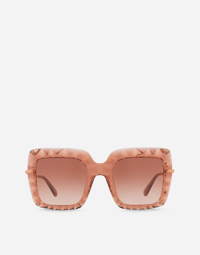 Dolce & Gabbana SQUARE SUNGLASSES IN TRANSPARENT ACETATE