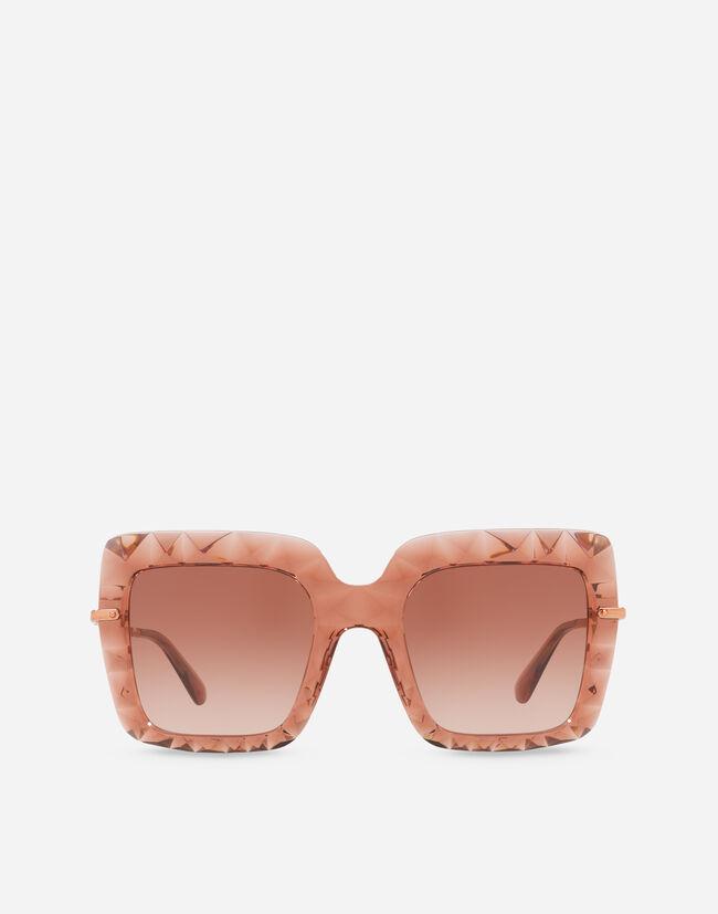 lunettes de soleil carrées en acétate transparent. Dolce   Gabbana ... 8f017367a192
