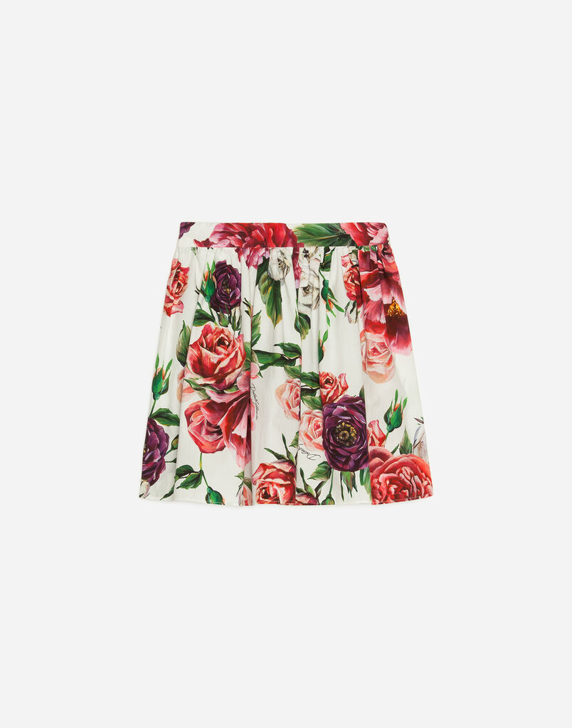 Dolce&Gabbana PRINTED COTTON SKIRT
