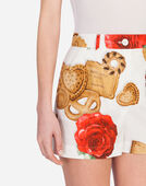 SHORTS IN PRINTED COTTON