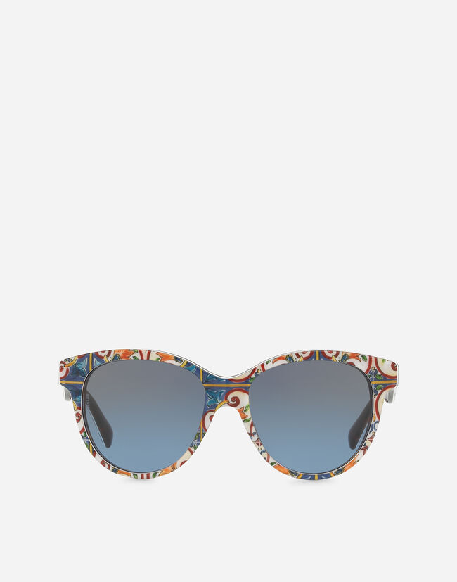 BUTTERFLY SUNGLASSES IN MAJOLICA PRINT ACETATE