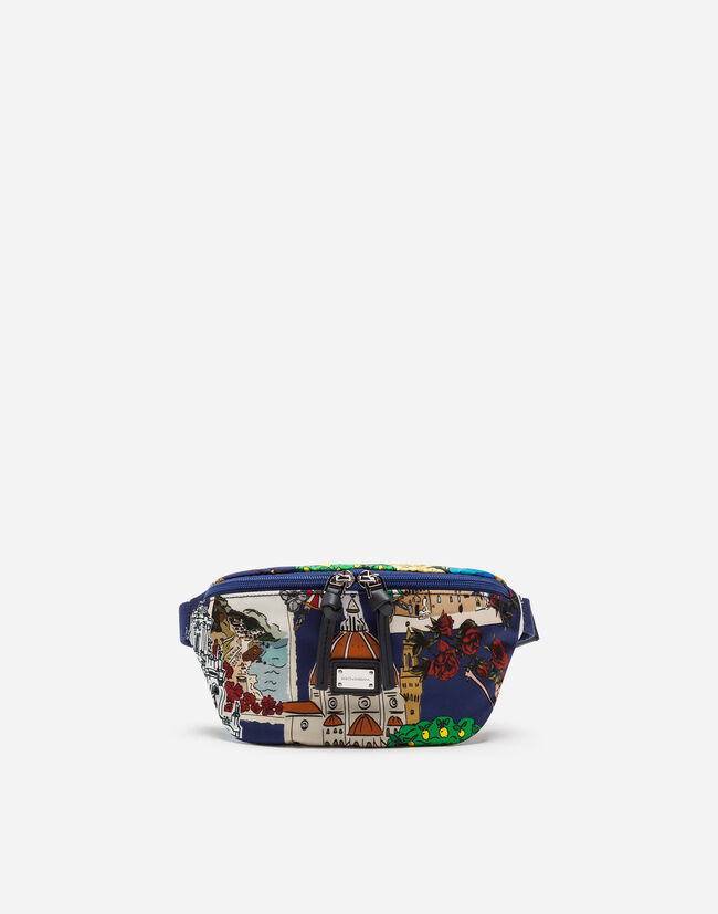 PRINTED NYLON FANNY PACK