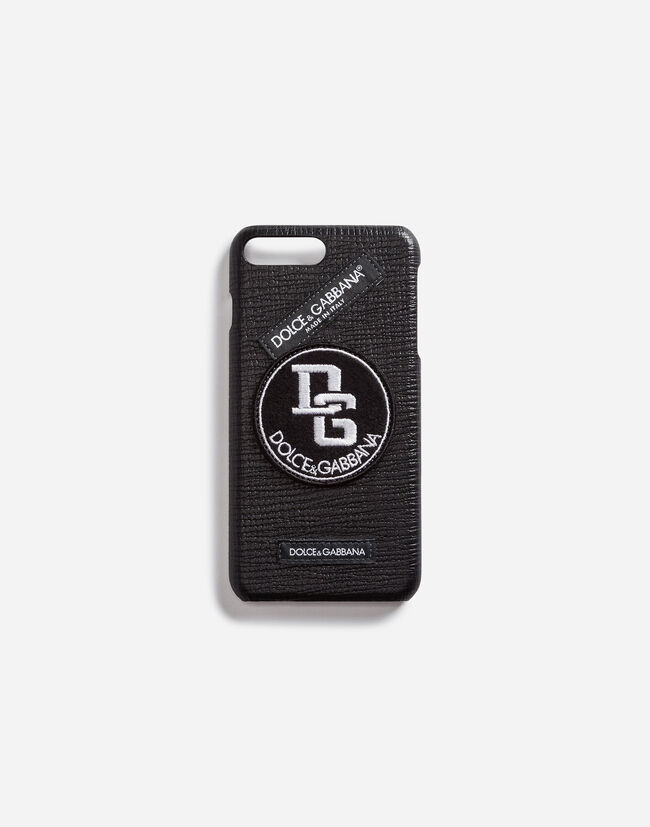 CALFSKIN IPHONE 7 PLUS COVER WITH LABELS PATCH