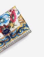 SMALL CONTINENTAL WALLET IN PRINTED DAUPHINE LEATHER