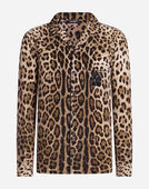 Dolce&Gabbana PAJAMA BLOUSE IN PRINTED SILK