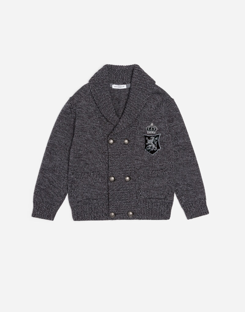 WOOL CARDIGAN WITH EMBROIDERY