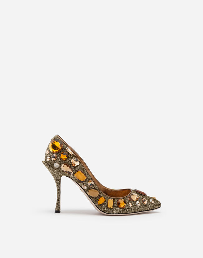 Dolce & Gabbana PUMPS IN SOFT LUREX WITH EMBROIDERY