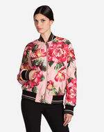 PRINTED NYLON BOMBER JACKET