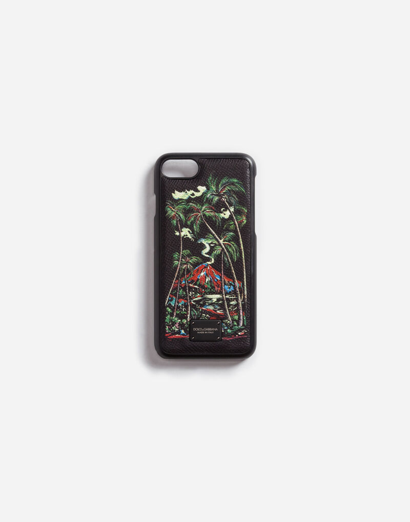 iPHONE 7 COVER WITH PRINTED DAUPHINE LEATHER DETAIL