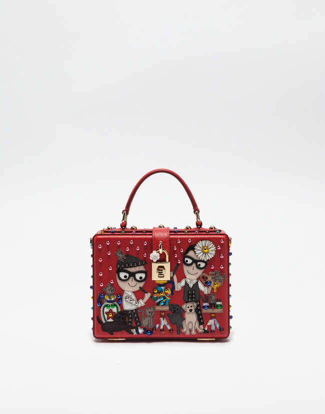 DOLCE BOX BAG WITH DESIGNER PATCH