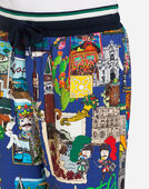 Dolce&Gabbana PRINTED COTTON JOGGING SHORTS
