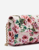 CROSS-BODY BAG IN PRINTED BROCADE WITH APPLIQUÉS
